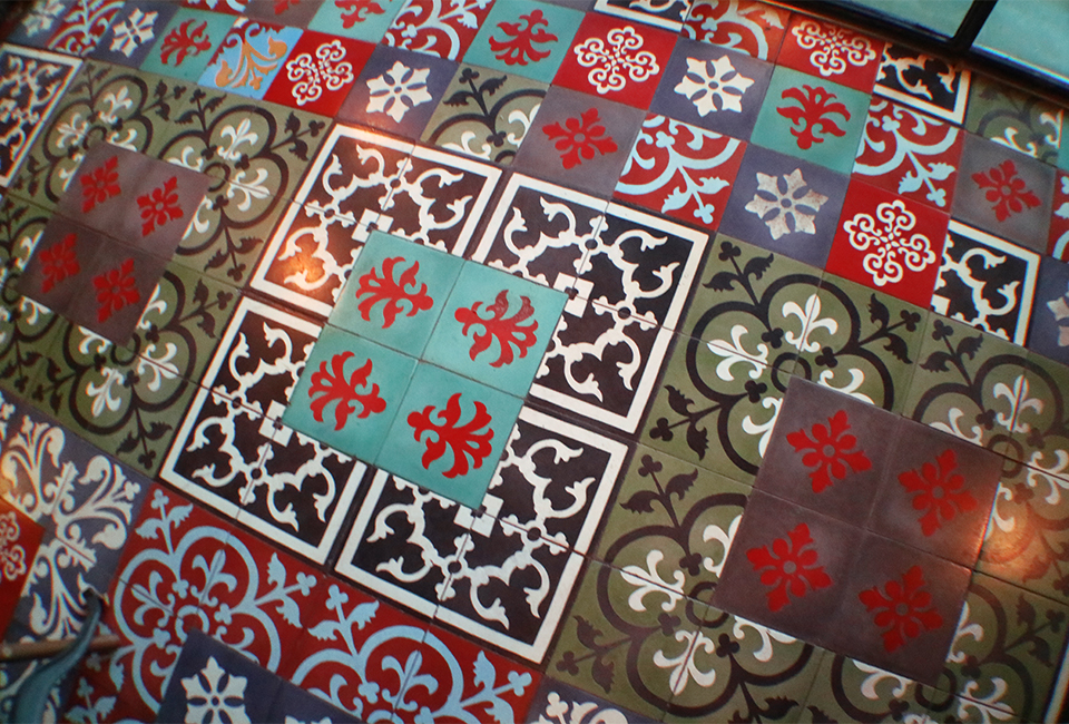 Colourful Pernaken Tiles