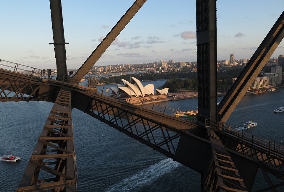 Opera House Through The Bridge