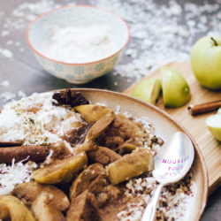 Stewed Apples with Coconut Quinoa