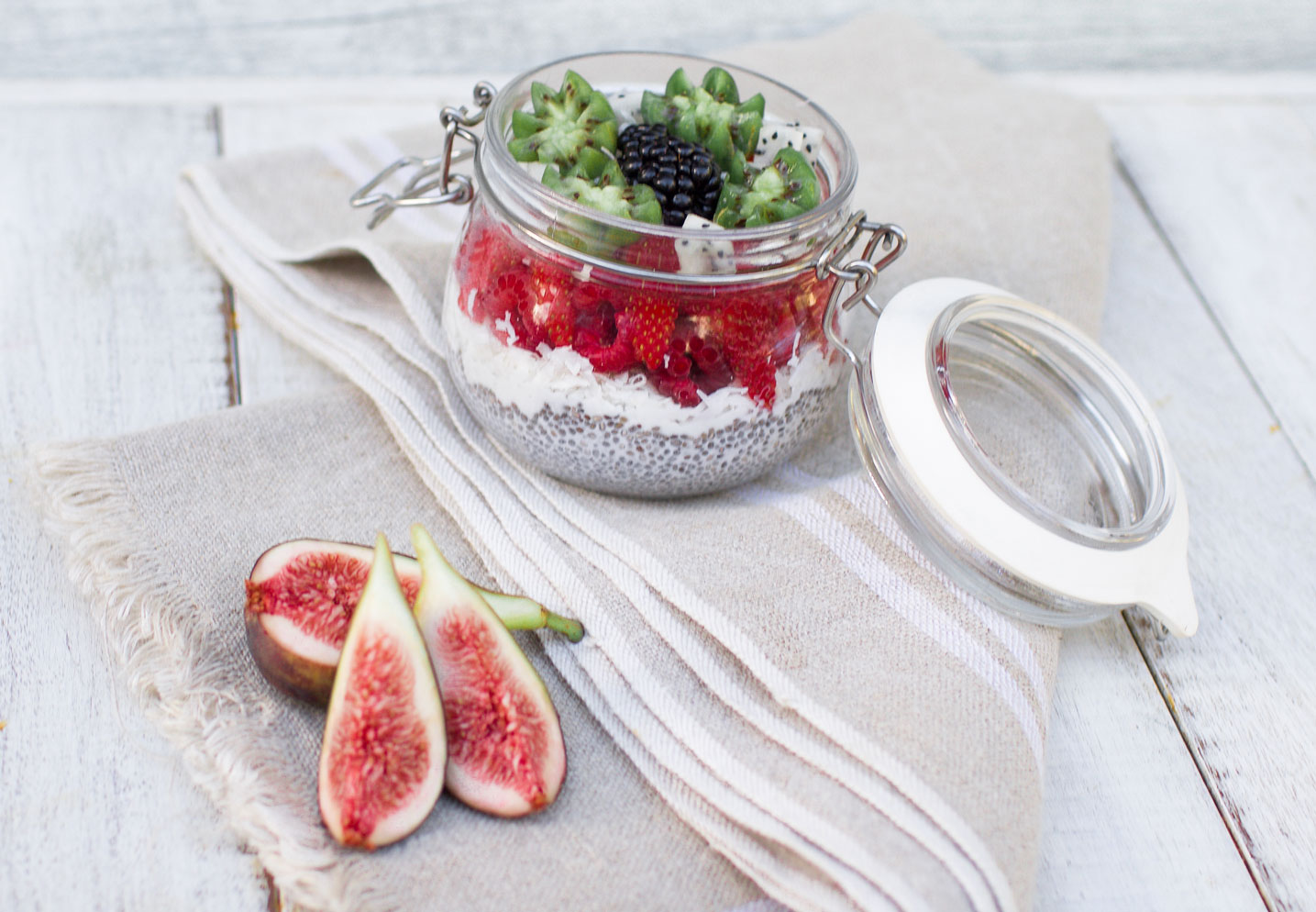 Protein Coconut Chia Pudding
